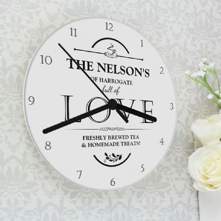 Personalised Clock - Full of Love